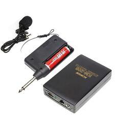 Wireless FM Transmitter Receiver Lavalier Lapel Clip Mic System Mini Microphone