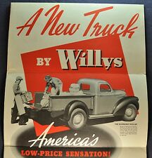 1938 Willys Pickup Truck Sales Brochure Folder Excellent Original 38