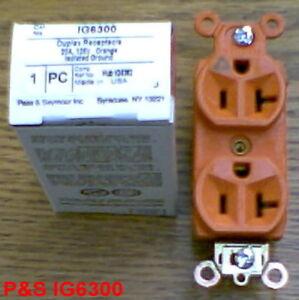 NEW P&S IG GROUND RECEPTACLE IG6300 20 Amp 125 Volt
