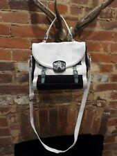 Fiorelli Womens Black and White Leather Cross body Bag Handbag