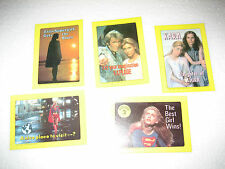 1984 Topps DC Supergirl (5) Sticker trading Cards; #3, 11, 37, 38, 40