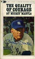 Mickey Mantle Jsa Coa Autograph Hand Signed Quality Of Courage Book
