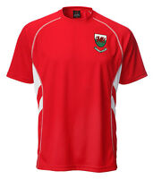Mens Welsh Wales Euro Rugby Football Supporter Gym Running cooldry T shirt TOP