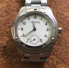 Nautica Ladies Watch Untested Quartz Silver Case Bracelet Used