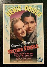 SECOND FIDDLE 1939 ORIGINAL MOVIE HERALD - SONJA HENIE, TYRONE POWER