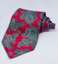 Burnham Ltd Mens Dress Suit Neck Tie 100% Silk Made in USA