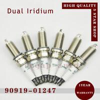 6 Iridium 90919-01247 FK20HR11 Dual Spark Plug for Toyota Camry Highlander Lexus