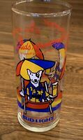 Vintage 1987 Bud Light Spuds Mackenzie Party Animal Beer Glasses Budweiser