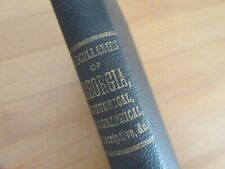 rare 1874 Book Printed In Georgia With Oconee War Chapter Alexander McGillivray