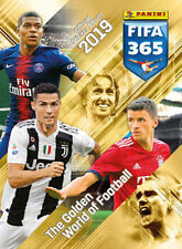 2019 FIFA 365 Soccer Panini Sticker Collection 10 Packs (50 Stickers) + Album