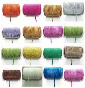 5yards Wide Glitter Velvet Ribbon Headband Clips Bow Decoration Pick Taffeta