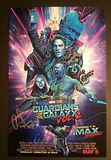 GUARDIANS OF THE GALAXY 2 Cast (x4) Authentic Hand-Signed IMAX image 11x17 Photo