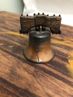 Vintage Liberty Bell Replica Bronze/Brass Small Collectible Historical. 2.5ins