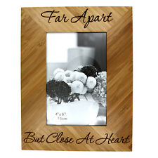 """Custom Monogrammed Personalized 4"""" x 6"""" Bamboo Picture Frame Memorial Frame"""