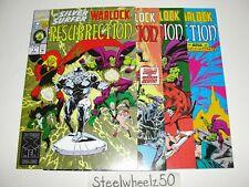 Silver Surfer Warlock Resurrection #1-4 Comic Lot Marvel 1993 COMPLETE Starlin