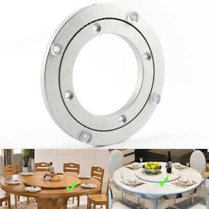 Lazy Susan Rotating Turntable FOR Serving Plate Cheese Tempered Wood Glass Plate
