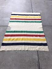 VTG Official Hudson's Bay 3.5 Point Wool Blanket - 54 Inch X 82 Inch 1955 - 1973