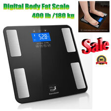 Body Fat Scale Weighing Weight Water Bone Calories BMI Analyser Bathroom 180kg