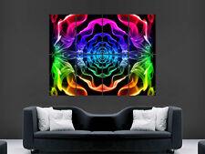 Abstracto Color Humo espectro Psychedelic Arte Pared Imagen Grande Poster Gigante