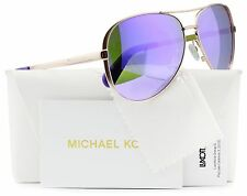 Michael Kors MK5004 Chelsea Aviator Sunglasses Rose Gold w/Purple Mirror (100...