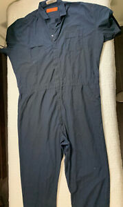 Red Kap Navy Blue Coveralls Short Sleeve Men Size XL