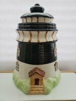 Vintage 1980s Lighthouse Ceramic Cookie Jar by Thompson. Excellent Condition!