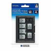 PlayStation PS Vita Game and Memory Card Case 12 + 4 Black  JAPAN