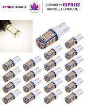 20 x Ampoules,Lumière LED super lumineux T10 921 194 42- 12V Voiture blanc chaud