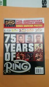 The Ring Boxing Magazine: 75th Anniversary. Huge Issue + Poster.