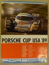 """1989 Porsche 962 """"Porsche Cup USA"""" Showroom Advertising Poster RARE!! Awesome"""