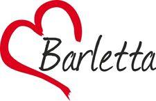 """Adesivo per auto """" BARLETTA """" (Città) cuore Sticker ca.9x14 cm taglio contorno"""