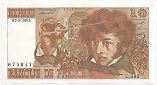 Billets de la banque française sur Berlioz