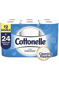 Cottonelle Ultra Cleancare 12 Big Rolls =24 Regular Roll