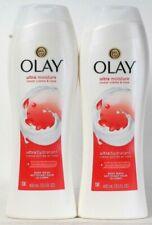 2 Bottles Olay 13.5 Oz Lock In Ultra Moisture Sweet Creme & Rose Body Wash