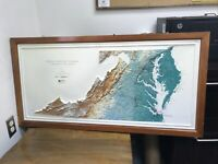Hubbard Scientific Raised Relief Map Washington DC Virginia Maryland Delaware !!