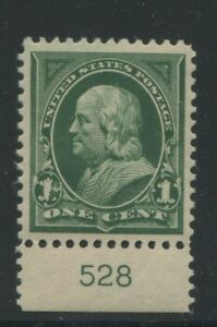 1898 US Stamp #279 1c Mint XF Grade 95 Original Gum Never Hinged Certified