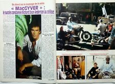 *RICHARD DEAN ANDERSON =>  COUPURE DE PRESSE 4 pages 1990 //  FRENCH CLIPPING!!!