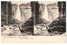 CPA stéréoscopique - ETATS UNIS - 19. Vallée de Yosemite. Chute du Nevada- LL