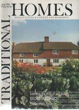 TRADITIONAL HOMES MAGAZINE August 1988 Learning the Skills of Self-Build  AL