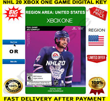 NHL 20 Xbox One Game 🔑 Digital Code Key Region US ✅ Free P&P 🎮 🏆