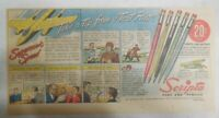 Scripto Pens & Pencils Ad: Take Tip from Test Pilot! from 1940's Size: 7 x 15 in