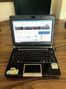 "Eee PC 901 9"" netbook 1.6GHz dual HDD 12GB total 1GB RAM works great"