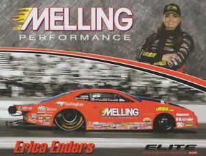 2018 Erica Enders Melling Chevy Camaro Pro Stock NHRA postcard