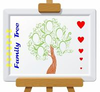 Family Frame Tree Stencil with wording 350 micron Mylar not thin stuff #Tree008
