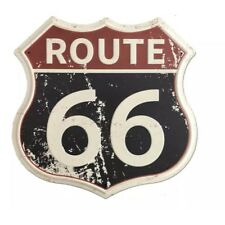 A12-08 / Route 66 Rustic Vintage Road Metal Tin Shield Highway Sign Home Decor