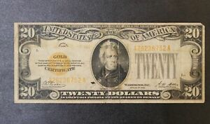 1928 20.00 Twenty Dollar Gold Certificate