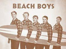 """The Beach Boys with Surfboard 11"""" X 14"""" Sepia Poster"""