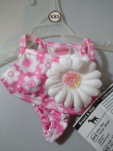 "Lulu Pink Dog XXS  1 Pink Bikini Set New With Tags 6""-8"" Adorable Beach Baby"