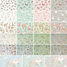 100% Cotton Fabric Lifestyle Rabbits Fox Butterflies World Map Upholstery 140cm