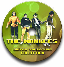 The Monkees Pop Rock Guitar Tab Tablature Song Book Software Cd